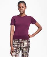 Brooks Brothers Short-Sleeve Saxxon Wool Shell