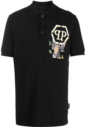 Philipp Plein King Plein graphic-print polo shirt