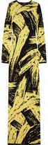 Sibling Intarsia Wool Maxi Dress - Pastel yellow