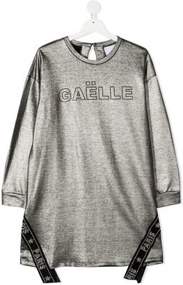 Gaelle Paris Kids TEEN metallic sweatshirt dress