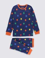 Marks and Spencer Skinny Fit Star Print Pyjamas (1-16 Years)