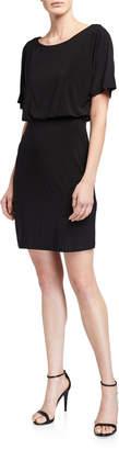 Neiman Marcus Blouson Dolman Sleeve Dress