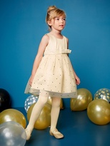 Vertbaudet Girls Satin and Tulle Party Dress