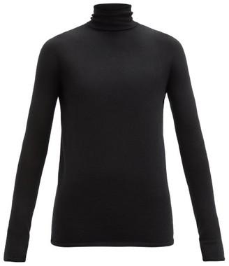 Johnstons of Elgin River Cashmere Roll-neck Sweater - Black