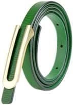 uxcell® Women Press Buckle Adjustable Skinny PU Waist Belt