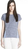 J Brand READY-TO-WEAR Sally Zipper Detail Fleece Top