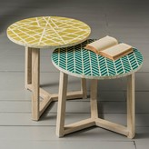 Graham and Green Inlaid Side Tables