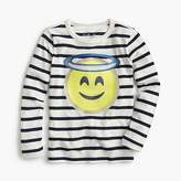 J.Crew Girls' angel emoji long-sleeve T-shirt