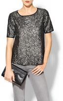 Finders Keepers Rhyme Los Angeles Daisy Sequin Blouse