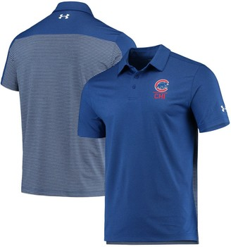 Men's Under Armour Royal/Gray Chicago Cubs Novelty Performance Polo