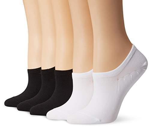 c1b068e59777f Amazon Brand - Daily Ritual Women's 5-Pack Lightweight Microfiber Nylon  No-Show Socks