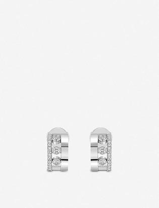 Messika Romane 18ct white-gold and diamond mini earrings