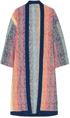 Mary Katrantzou Sola Glittered Jacquard-knit Cardigan