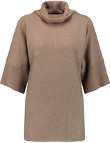 Agnona Ribbed cashmere and silk-blend turtleneck sweater