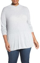 Sejour Plus Size Women's Mock Neck Sweater