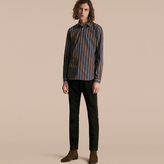 Burberry Slim Fit Pyjama Stripe Cotton Poplin Shirt