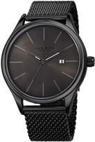 Akribos XXIV Unisex Black Strap Watch-A-959bkgn