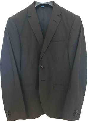 Tiger of Sweden Black Cotton Suits