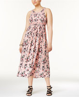 Almost Famous Trendy Plus Size Floral-Print Midi Dress
