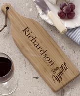 'Bon Appetit' Personalized Wine Bottle Cutting Board