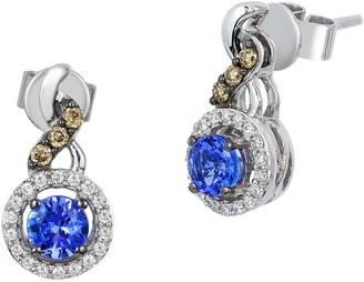 LeVian Le Vian 14K Vanilla Gold & Blueberry Tanzanite Earrings