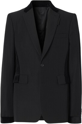 Burberry Trimmed Tailored Blazer