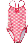 Bebe Girls' Gingham Crossback One-Piece