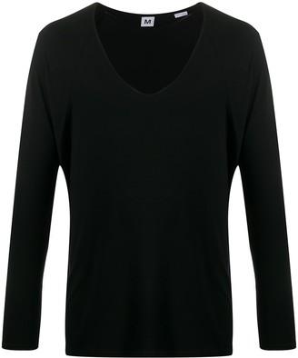 Random Identities plunging V-neck T-shirt