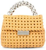 Stella McCartney saffron becks weaved mini shoulder bag