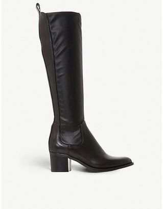 Dune Telling leather knee-high boots