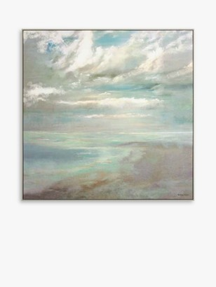John Lewis & Partners Anthony Waller - Summer Haze Framed Canvas, 92 x 92cm, Blue/Multi