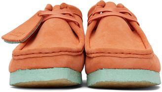 Clarks Originals Orange & Blue Suede Wallabee Derbys