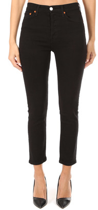 RE/DONE Black High Rise Ankle Crop