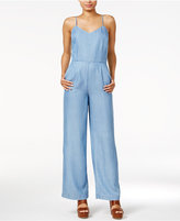 Maison Jules Sleeveless Chambray Jumpsuit, Only at Macy's