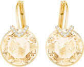 Swarovski Bella V Pierced Earrings, Large, Brown, Gold plating