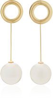 Joanna Laura Constantine Grommets Shell Pearl and Gold-Plated Earrings