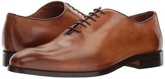 Massimo Matteo Bal Plain Toe (Burnished Tan) Men's Lace Up Cap Toe Shoes