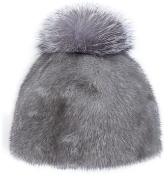 Canadian Hat Mink Pom Pom Beanie Hat