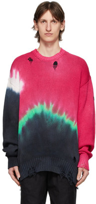 Poggys Box Multicolor Knit Tie-Dye Damage Sweater