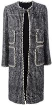Giambattista Valli patch pocket open coat - women - Silk/Cotton/Polyester/Viscose - 48