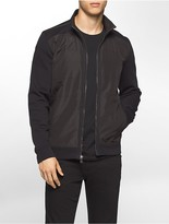 Calvin Klein Quilted Fleece Bomber Sweatshirt