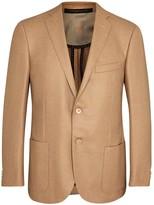 Corneliani Camel And Wool Blend Twill Blazer