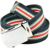 Build A Belt Classic Silver Men's Military Slider Belt Buckle with Canvas Web Belt Medium