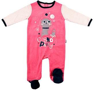 Camilla And Marc Baby Velour Pyjamas Pink Cosmo Party - 24 Months (92 cm Waist)