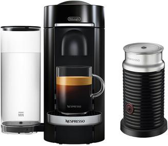 De'Longhi Nespresso Vertuoplus Deluxe Coffee & Espresso Single-Serve Machine In Piano Black With Chrome Detailing