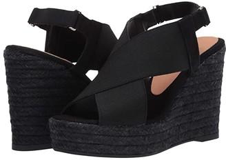Castaner Federica Wedge Espadrille (Black) Women's Sandals