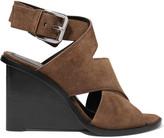 Alexander Wang Elisa suede wedge sandals