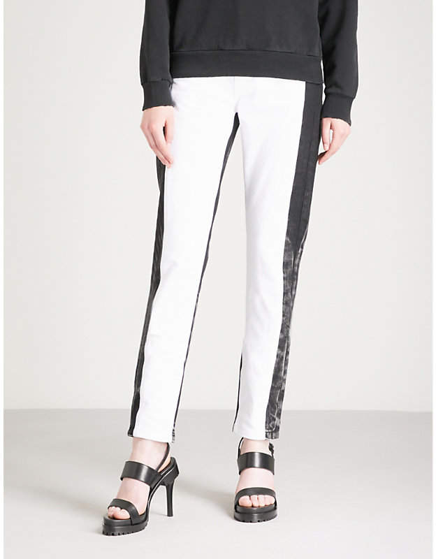Givenchy Two-tone mid-rise straight jeans
