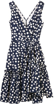 Carolina Herrera Polka Dot Wrap Dress