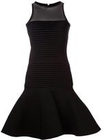 David Koma pleated panel dress